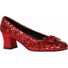 Red Sequin Shoe Womens